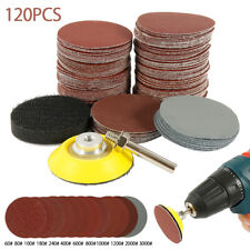 120pcs 2in Sanding Discs pads 60-3000 Grit 50mm Type R Roloc Abrasive Roll Lock