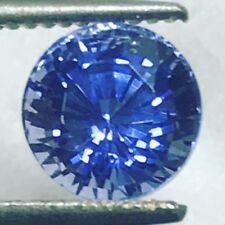 Natural 1.84 Carat Blue Sapphire 6.4mm Round Genuine Loose Gemstone Fine Gem