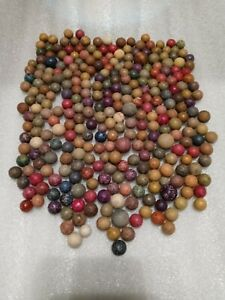 Lot Of 300 Assorted Colors/Sizes Antique Clay Marbles Vintage