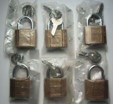 6 - Chicago Lock Co - Pin Tumbler Padlocks - Each with 2 Keys Made in USA Unused