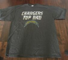 San Diego Chargers NFL Team Apparel Size XXL Tshirt Gray Top Dad
