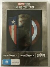Captain America 3-Movie Collection (DVD) Region 4 **BRAND NEW & SEALED** Marvel