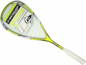 Dunlop Sport g-force 10 Squash Racquet Racket With cover - Yellow / White