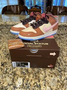 Nike Dunk Mid x Social Status Free Lunch Chocolate Milk size 8.5 IN HAND!!!