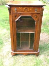 Antique Walnut Sheet Music Display Cabinet Bookcase