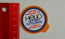 Aufkleber/Sticker: Interpack 78 - HeLiO die Folien der Feldmühle (030616138)