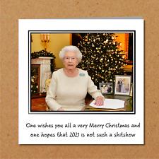 Funny 2020 Christmas Card - Queen Speech - humorous humour - lockdown quarantine