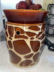 """Scentsy Giraffe Wax Warmer Deluxe 6"""" Size Retired Safari 23204"""