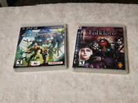 Folklore (Sony PlayStation 3, 2007) + Enslaved PS3 ---Lot of 2