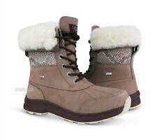 UGG Adirondack III Snake Dusk Pink Leather Fur Boots Womens Size 10 *NIB*