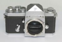 Nikon F Eye Level 35mm SLR Film Camera Silver Body Only Made In Japan