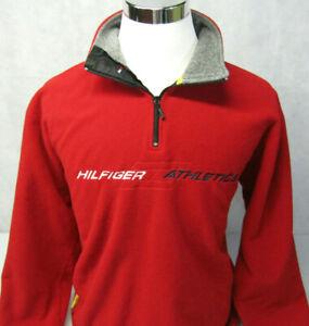 Tommy Hilfiger Athletics Vtg Spelled Out Pullover Red Fleece Sweatshirt Mens M