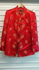 Women's Chinese Silk Jacket Red SZ M