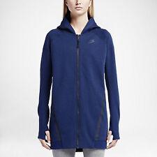 NWT NIKE WOMEN SzS TECH FLEECE MESH COCOON LONG SLEEVE HODDIE JACKET BLUE $180