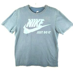 Nike Just Do It Mens Large Graphic Athletic Tee T Shirt Blue Size L