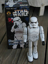 "RARE ~ OSAKA Co 1998 STARS WARS Stormtrooper Wind Up 9.5"" Tin Toy Japan SW003"