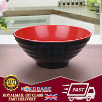 UK Chinese Japanese Red Melamine Plastic Ramen Bowl 19.7cm x 8.5cm