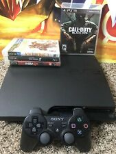 Sony PlayStation 3 PS3 CECH-3001A Slim Console 160 GB w/ Controller And Games
