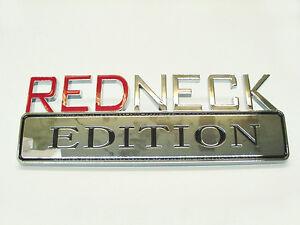 Dodge Chrome Emblem REDNECK EDITION Decal Logo Badge Trunk Bumper Fender