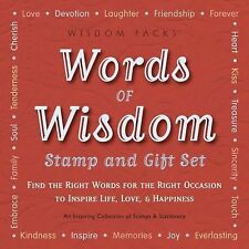 Words of Wisdom Stamp and Gift Set : Find the Right Words for the Right...