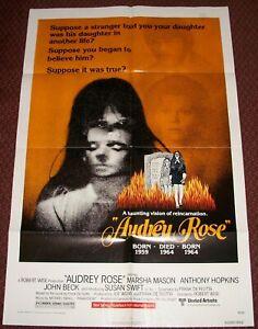 Audrey Rose 1977 Vintage 1-Sheet Poster FF Marsha Mason Anthony Hopkins