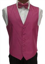 LL Mens Fuchsia Watermelon After Six Radar Wedding Fullback Tuxedo Vest w/ Tie