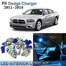12x Premium Ice Blue LED Interior Lights Kit For 2011-2014 Dodge Charger