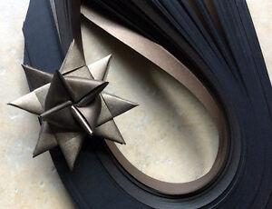 Paper Strips make 3D Stars (Moravian Froebel Quilling) Bronze Sheen 3/4 in wide