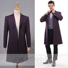 Doctor Who 11th Dr. Purple long Coat Halloween Cosplay Costume windbreaker