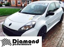 CLIO III inc SPORT 200 facelift GLOSS BLACK FRONT&REAR BADGE EMBLEM COVER SET