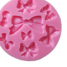 Chocolate Cupcake Mold Craft Fondant 3D Bow Bowknot Silicone Sugar Candy
