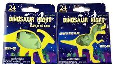 Glow In The Dark 48 DINOSAUR Stickers Luminous Kids Bedroom Nursery Ceiling Wall