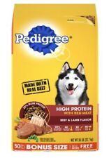 Pedigree High Protein Adult Dry Dog Food, (2) 50 Lb. Bags - 100 Lbs. Total