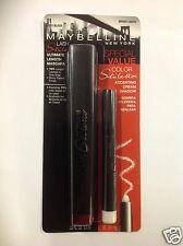 Maybelline Lash Stiletto Mascara & Cream Shadow VERY BLACK/BRIGHT LIGHTS 01 NEW.
