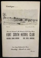 1954 Catalogue All-Breed AKC Dog Show Fort Smith Kennel Club Arkansas Book