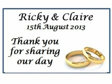 42 Personalised Wedding Rings Thank you Labels 3 for 2 Address Stickers