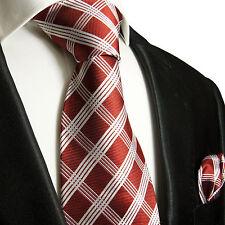 Rote Krawatten Set 2tlg Seidenkrawatten rot 725