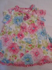Girls Baby Lulu Flower Dress Size 12 Months 100% Cotton VGUC