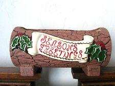 New listing Ceramic Christmas Yule Log Planter