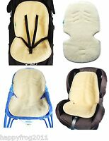 Natural Sheep Wool Liner Cover Mat for Pushchair Buggy Pram Car Seat UNIVERSAL