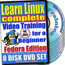 Learn Linux Complete, 8-DVD Video Training Fedora Set
