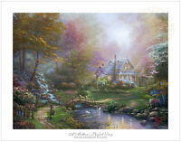Thomas Kinkade Mother's Perfect Day 12 x 16  S/N Limited Edition Paper