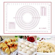 LARGE Silicone Rolling Cake Dough Baking Mat Pastry Clay Oven Liner Cookie Sheet