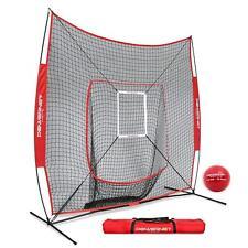 Refurbished PowerNet DLX 7x7 Baseball Softball Hitting Net Weighted Heavy Ball