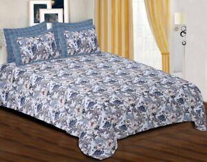 Indian Cotton Bedsheets Floral Printed King Size Bedding Set Double Bedsheet Set
