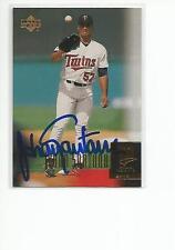 JOHAN SANTANA Autographed Signed 2000 Upper Deck ROOKIE card Minnesota Twins COA