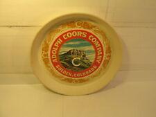 Vintage Coors Compagnie Doré, Colorado Plastique Bière Plateau Barre Signe sn29