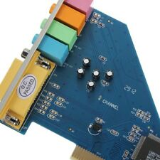 1PCS 4 Channel 8738 Chip 3D Audio Stereo PCI Sound Card Win7 32/64 bit New
