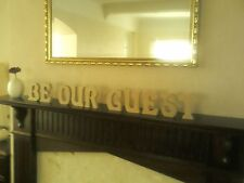 Beauty and the Beast Wooden Letters for Wedding. BE OUR GUEST. Free standing