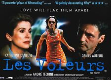 "MOVIE POSTER~Thieves ""Les Voleurs"" 1996 30x40"" British Quad Daniel Auteuil NOS~"